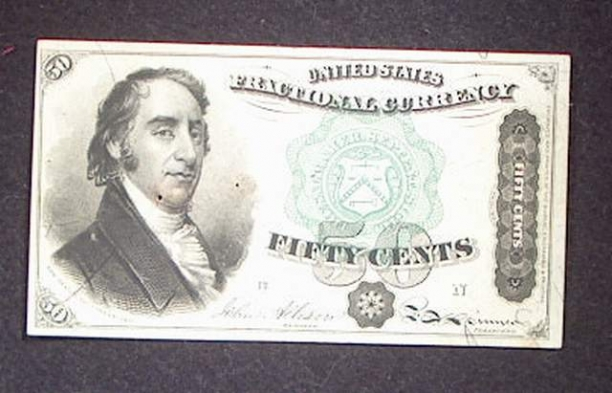 1379 4th Issue 50 Cent Note