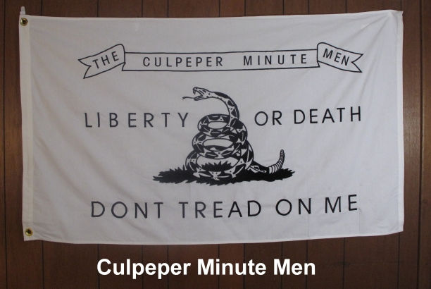 The Culpeper Minute Men Revolutionary War Flag