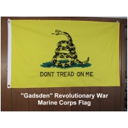 """Gadsden"" Revolutionary War Marine Corps Flag 3X5 Cotton"
