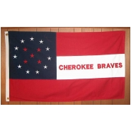Cherokee Braves Unit Flag