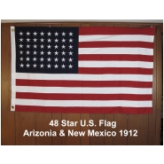 48 Star U.S. Flag Arizonia & New Mexico