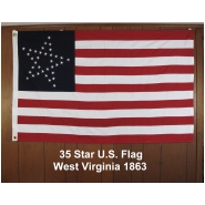 35 Star U.S. Flag West Virginia1863