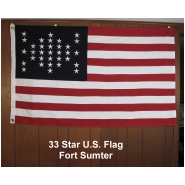 33 Star U.S. Flag Fort Sumter