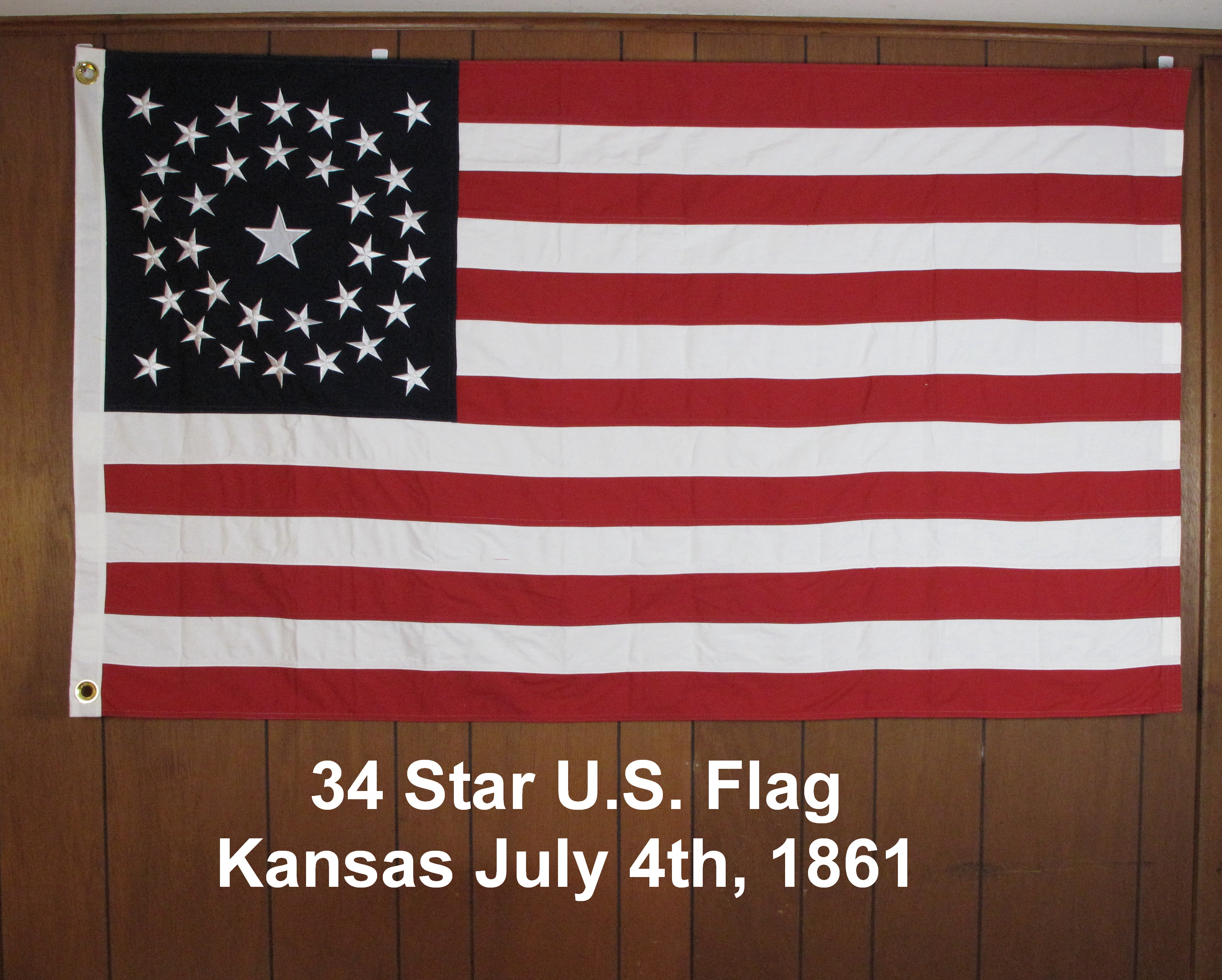 34 Star U.S. Flag Kansas 1861
